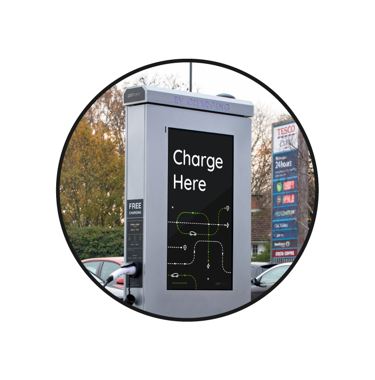 Media Charger Advertising Screen