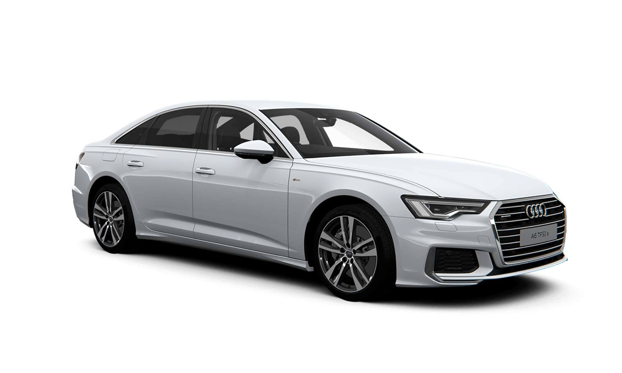 Audi A6 Tfsie White Background