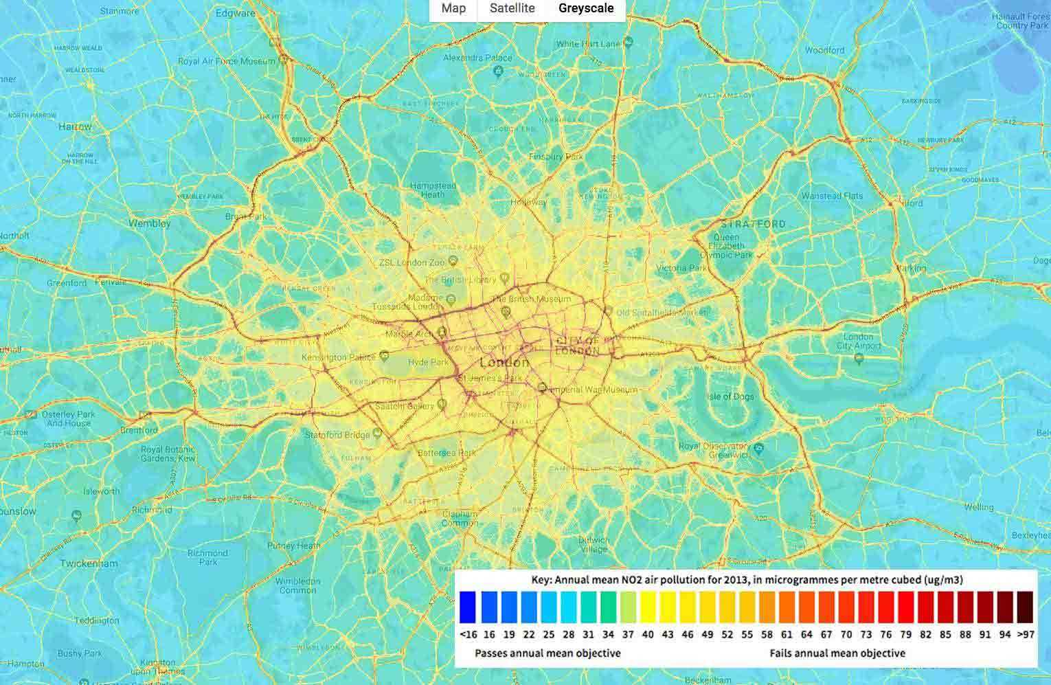 London Pollution Map Blog