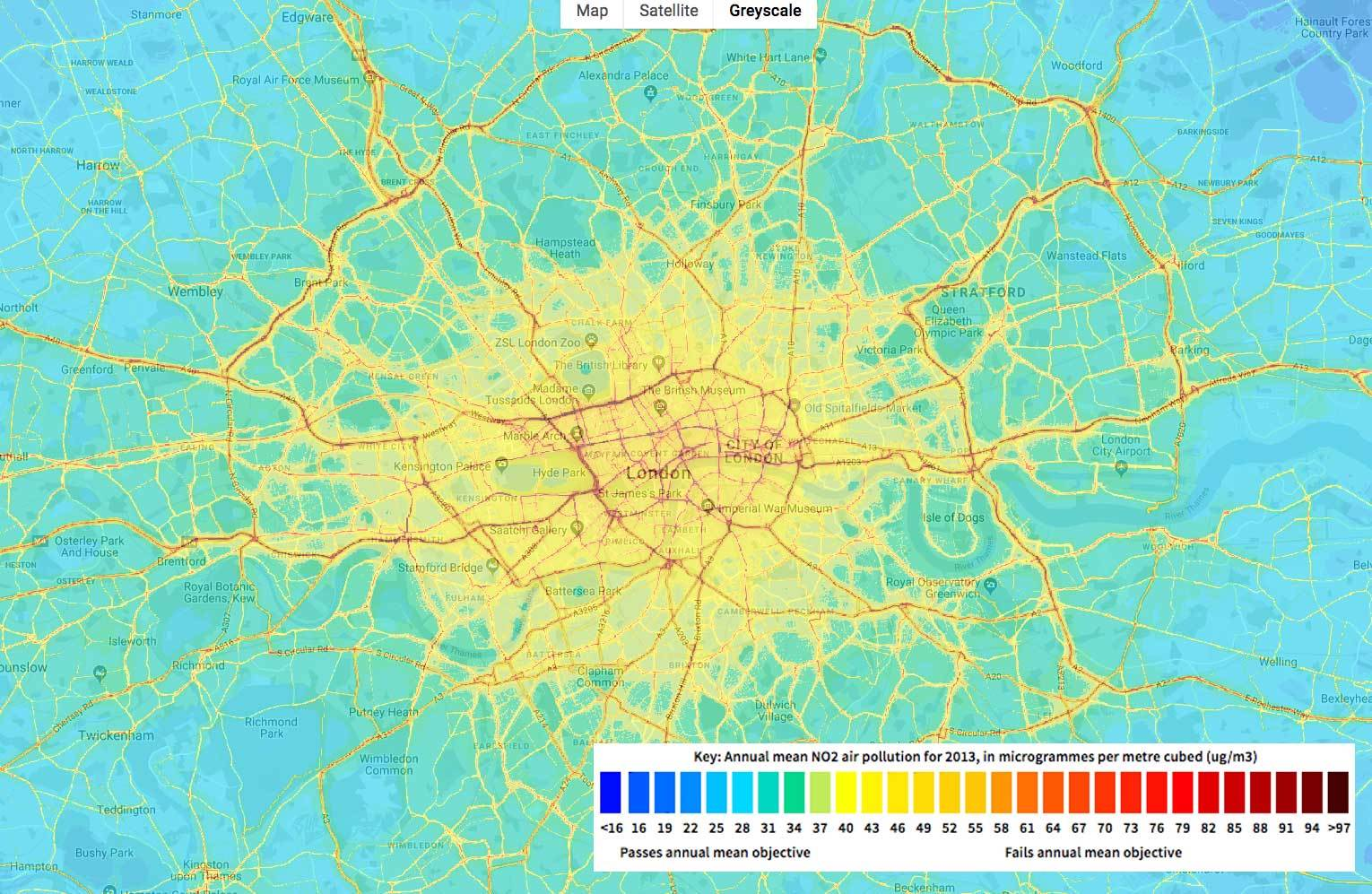 London Pollution Map