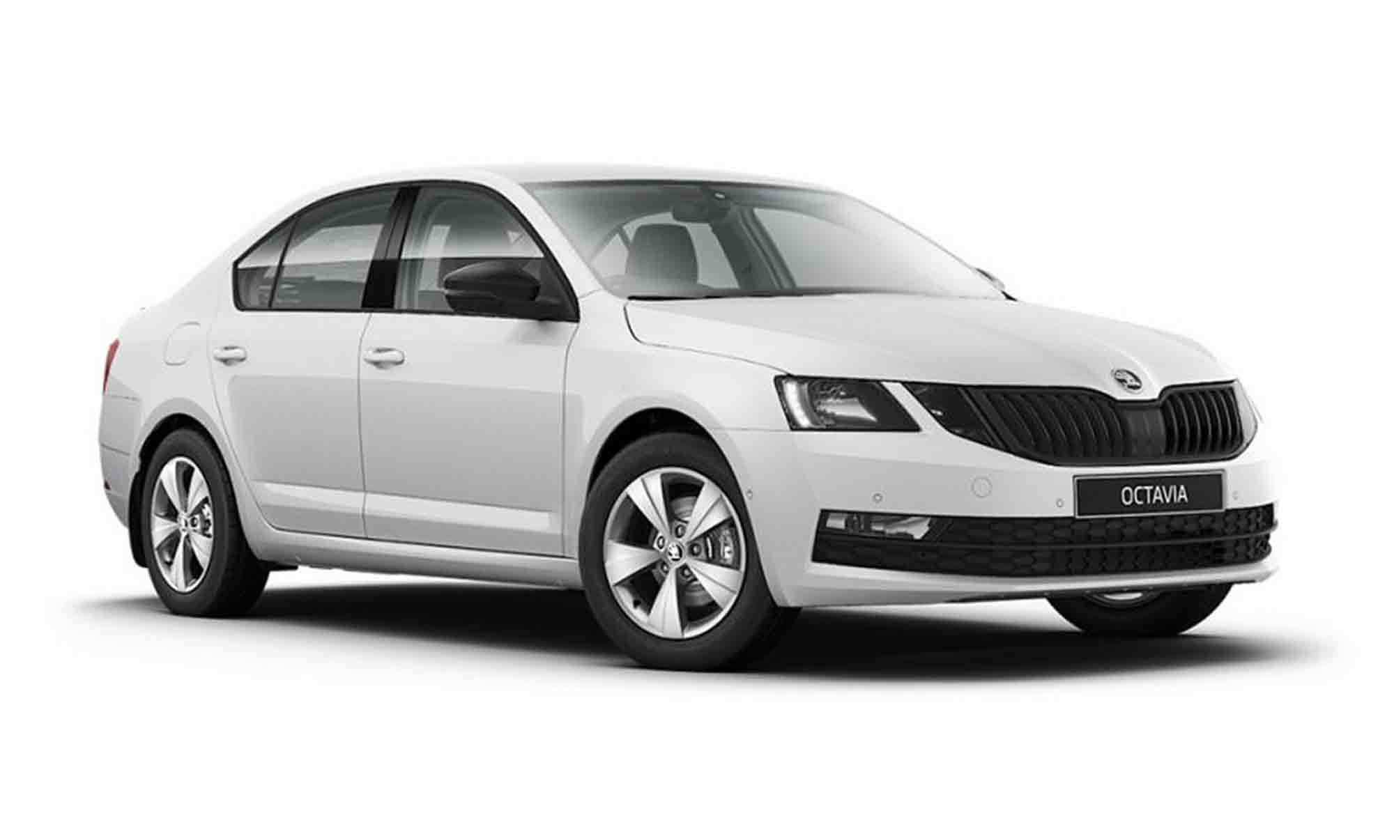 Skoda Octavia White Background